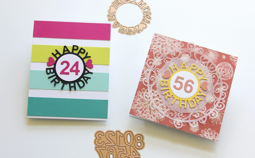Special Moments Inspiration | Die-Cut Happy Birthday Times Two with Jean
