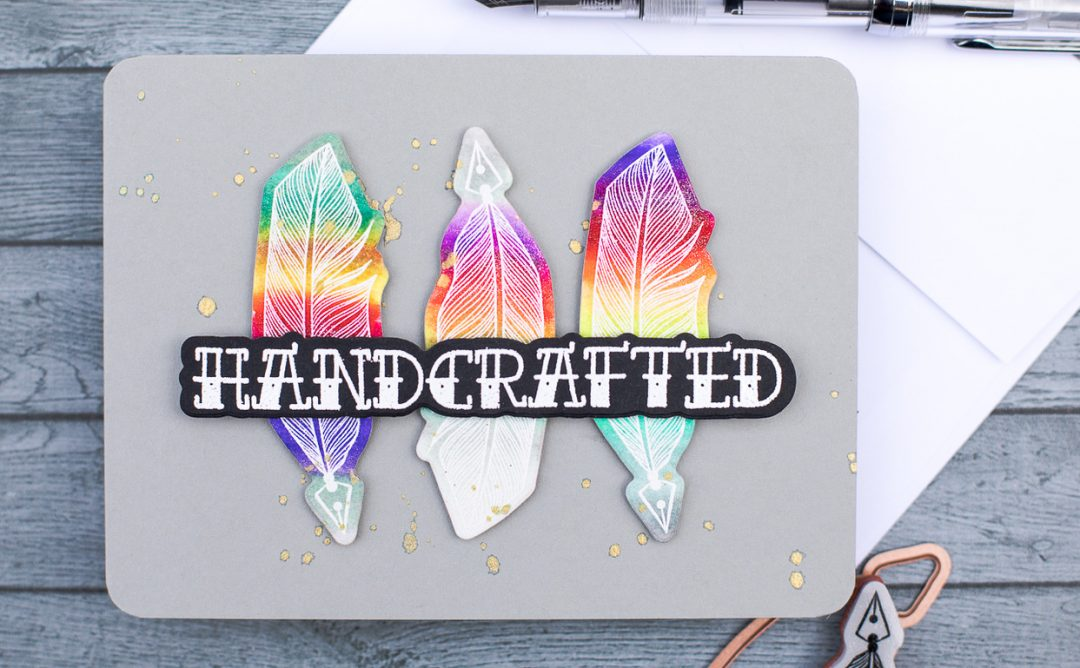 Handmade Collection Inspiration | Handcrafted Rainbow Quills by Jenny Colacicco