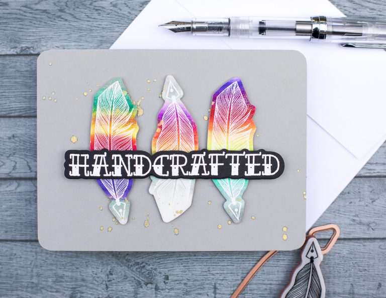 Spellbinders - Handmade Collection by Stephanie Low Inspiration | Handcrafted Rainbow Quills by Jenny Colacicco #spellbinders #stamping #cardmaking #handmadecard
