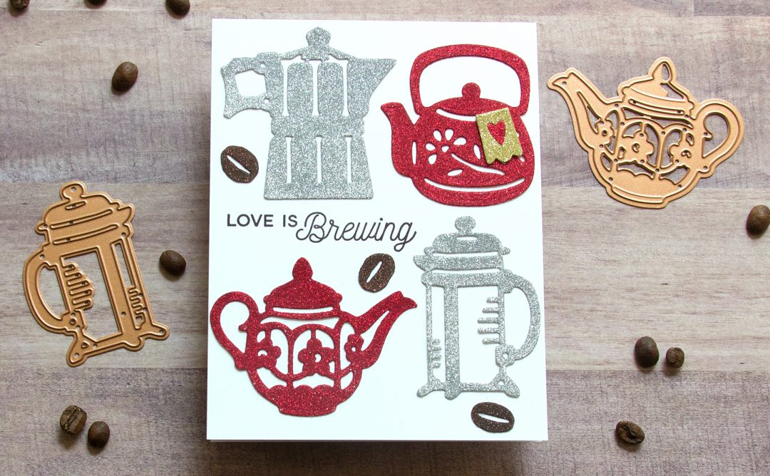 Cuppa Coffee, Cuppa Tea Inspiration | Glittery Sweetheart Card with Jean