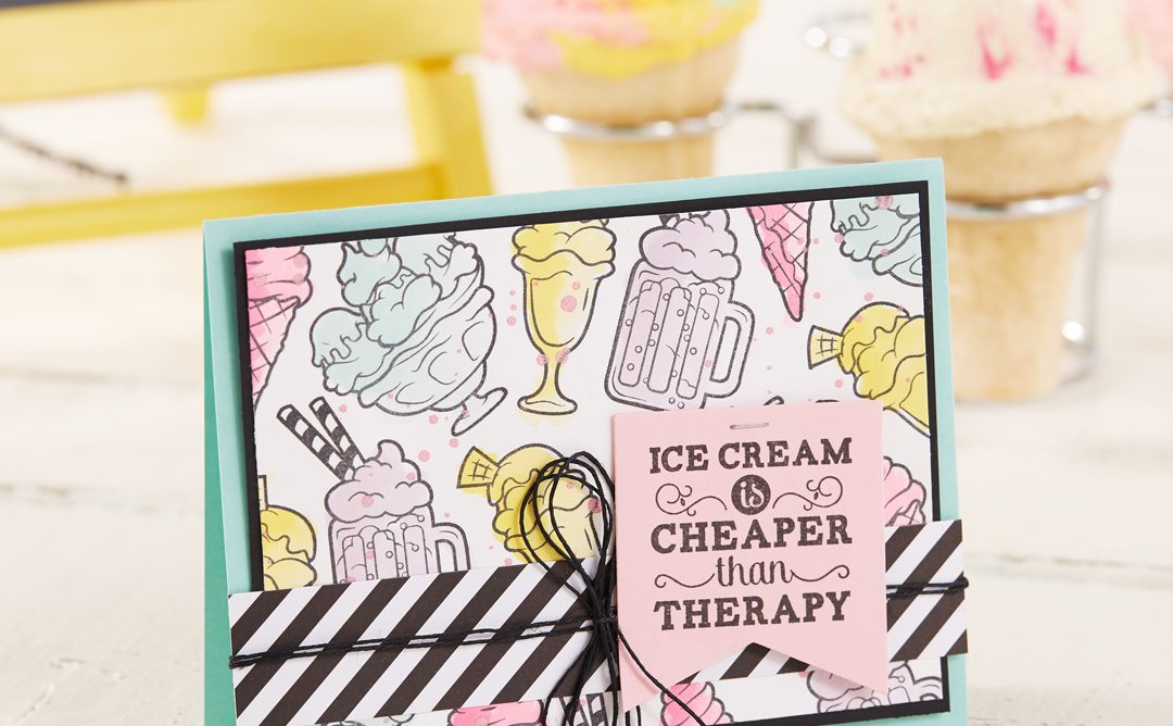 Ice Cream Is Cheaper Than Therapy – Cardmaking Idea