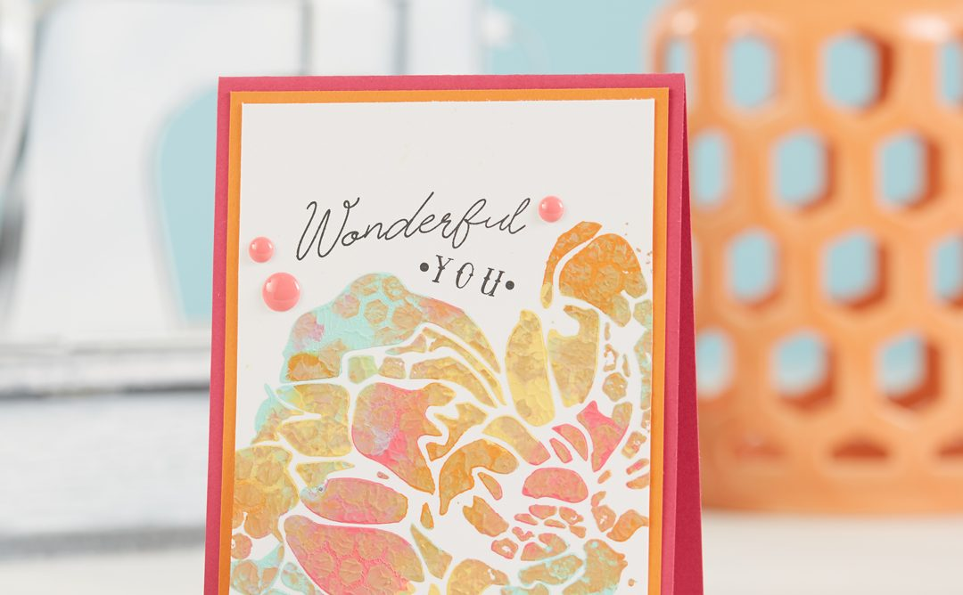 Mixed Media Cardmaking with Stencils and Paint