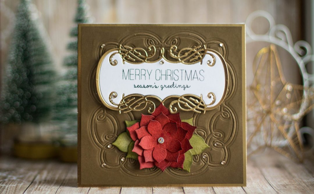 A Charming Christmas Inspiration | Embossed Christmas Card with Elena Salo