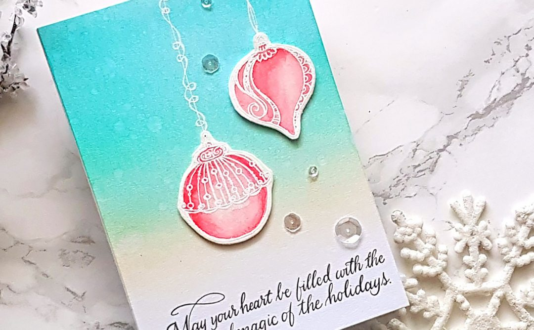 Spellbinders Zenspired Holidays Collection by Joanne Fink - Inspiration   Beautiful Ornaments with Alexandra Suta featuring SBS-164 Dangling Ornaments, SBS-165 Christmas Sentiments #spellbinders #neverstopmaking