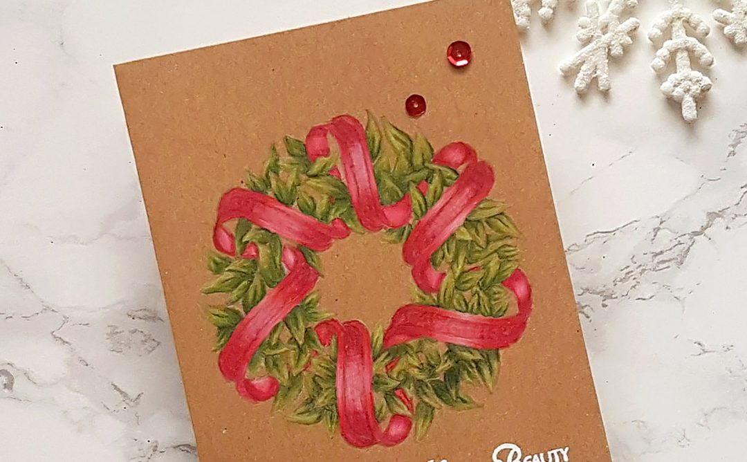 Spellbinders Zenspired Holidays Collection by Joanne Fink - Inspiration | Christmas Wreath with Alexandra Suta featuring SBS-168 Sentiments Wreath, SBS-166 Joyful Season Angel #spellbinders #neverstopmaking