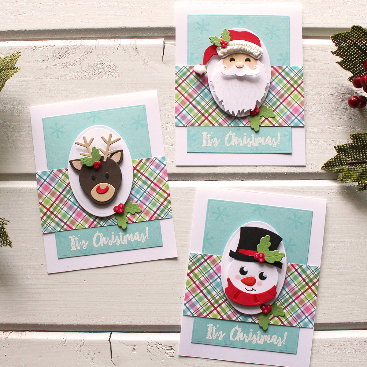 Spellbinders Santa Die D-Lites Set Christmas Cutting Dies Holiday Card Making
