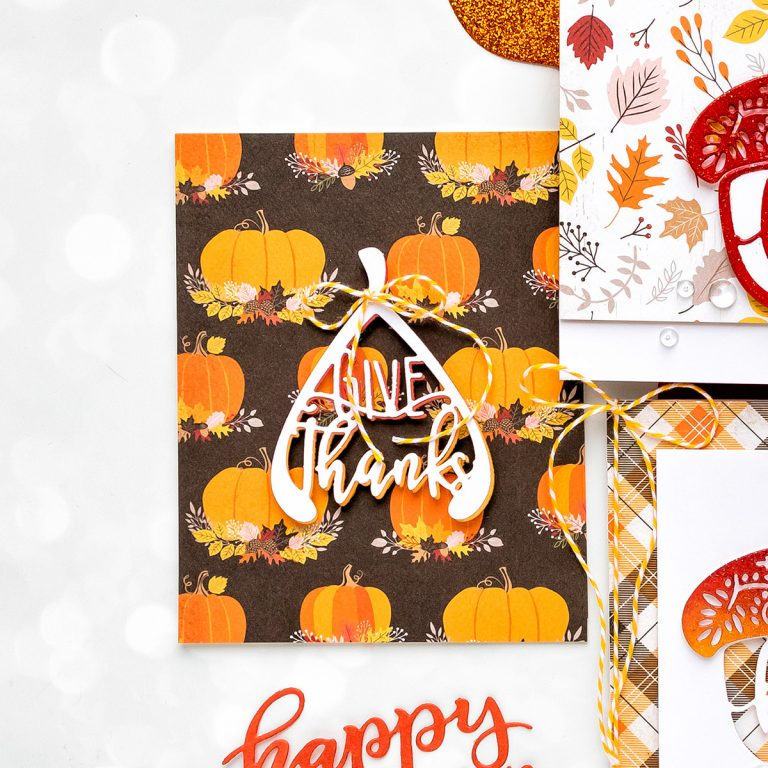 Spellbinders October Small Die of the Month is Here! #SpellbindersClubKits #NeverStopMaking #DieCutting #HandmadeCard