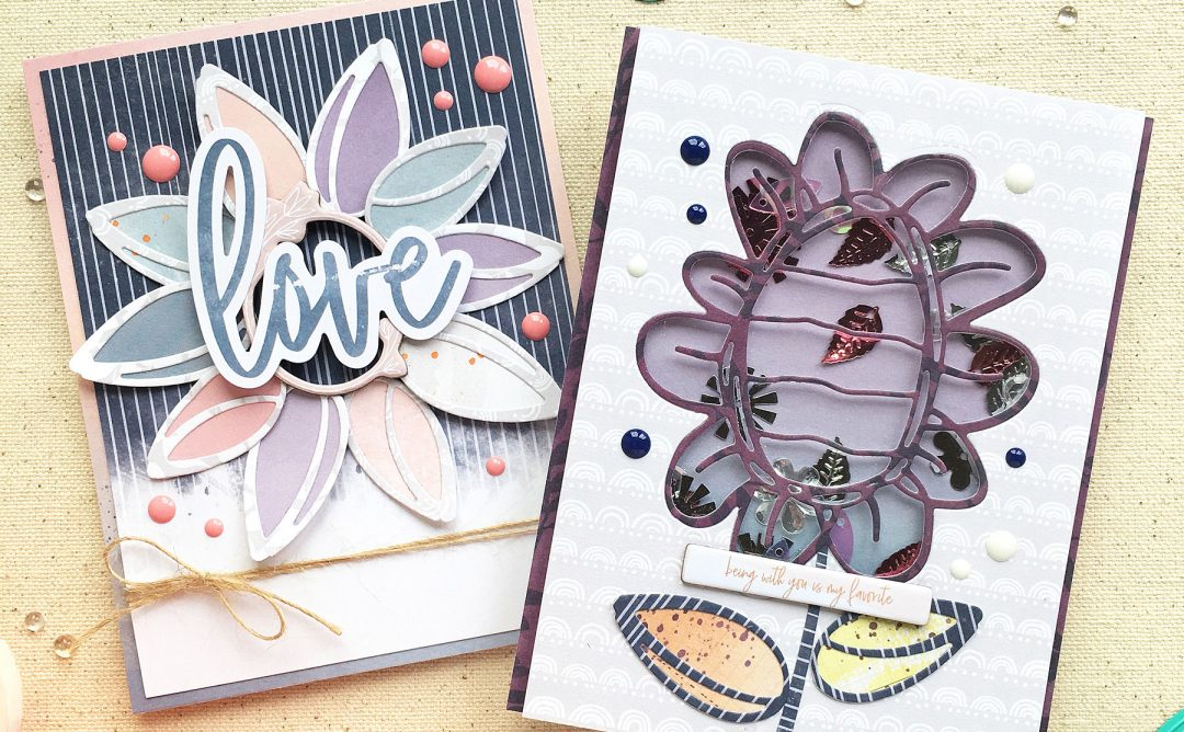 Jane Davenport Artomology | Cardmaking with Sunflower Journal Dies with Enza Gudor