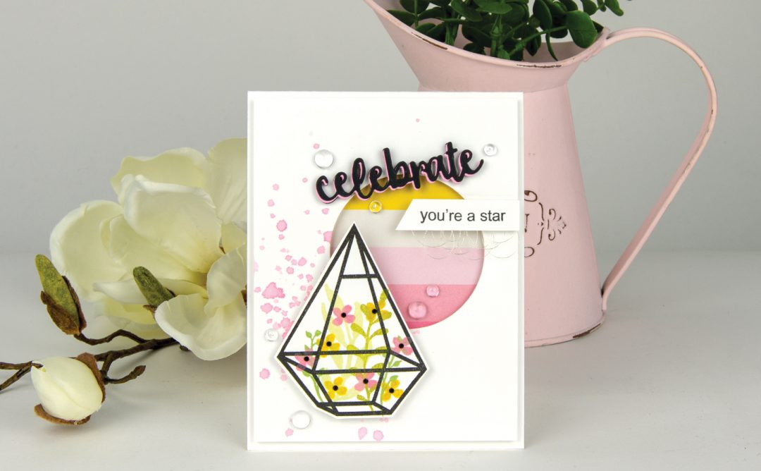 """Using Just Stamp & Dies! October """"Watercolor"""" 2018 Card Kit of the Month Edition"""