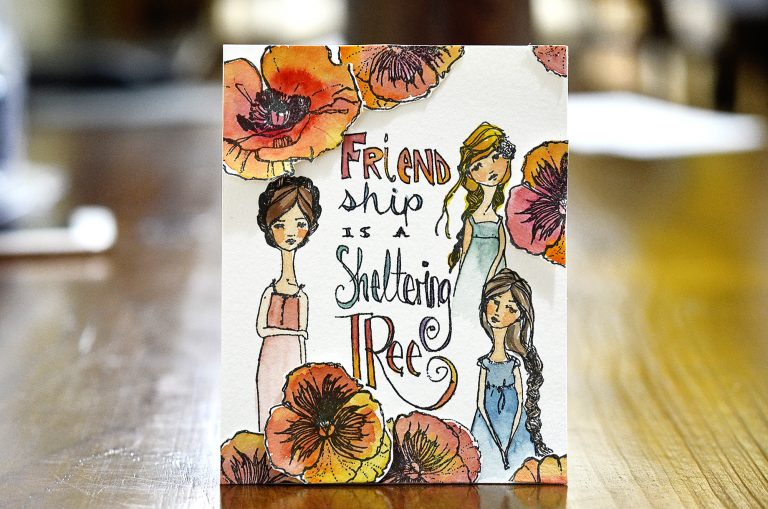 Spellbinders Jane Davenport Artomology | Mixed Media Friendship Cards with Mayline Jung #janedavenport #janedavenportartomology #Artomology #spellbinders #neverstopmaking #smoothmarkers #makeitwithmichaels #washisheets