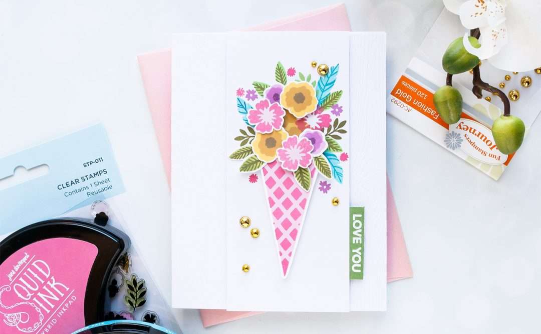 NEW Clear Stamps | Love You Floral Bunch Card