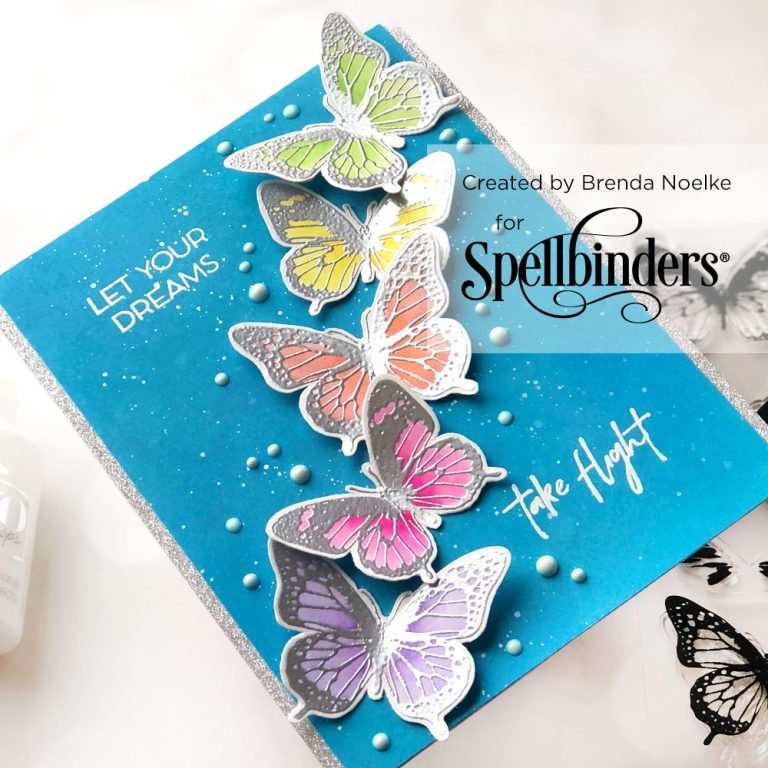 Spellbinders NEW Clear Stamps | Flowers & Butterflies with Brenda Noelke #neverstopmaking #spellbinders