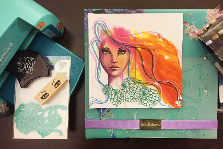 "Spellbinders Jane Davenport Artomology | A ""Glance"" is All it Takes 