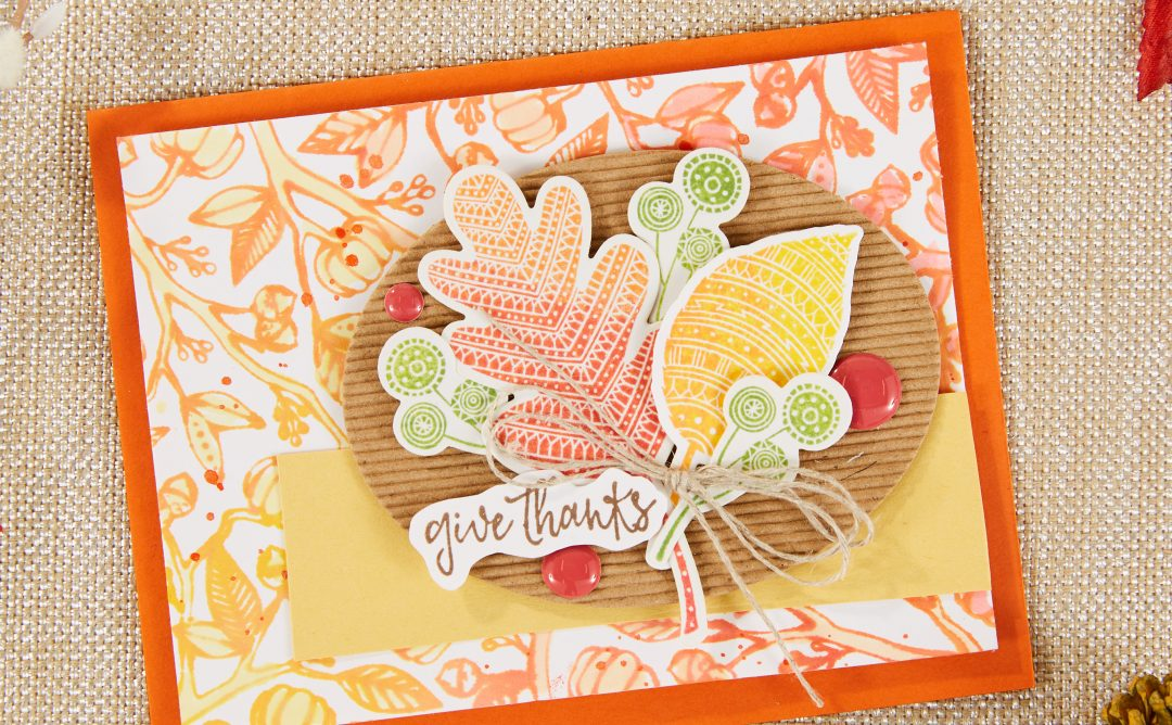 Give Thanks Fall Card with Zen Leaves