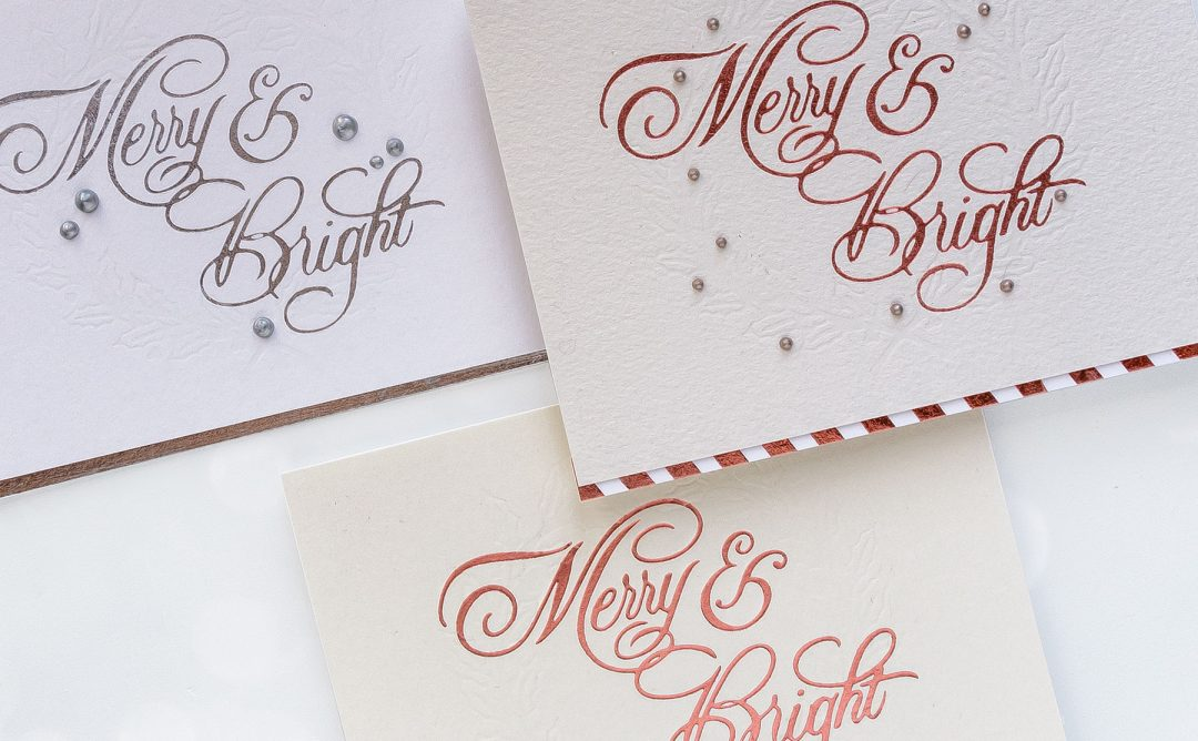 Glimmer Hot Foil System | Letterpress Techniques for Holiday Cards. Video