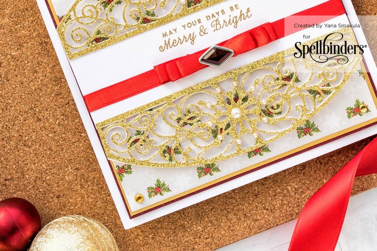 Cardmaking Inspiration | Elegant Christmas Card as seen in Die Cutting Essentials Magazine Issue #45 #spellbinders #cardmaking