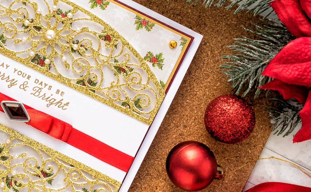Cardmaking Inspiration | Elegant Christmas Card as seen in Die Cutting Essentials Magazine Issue #45