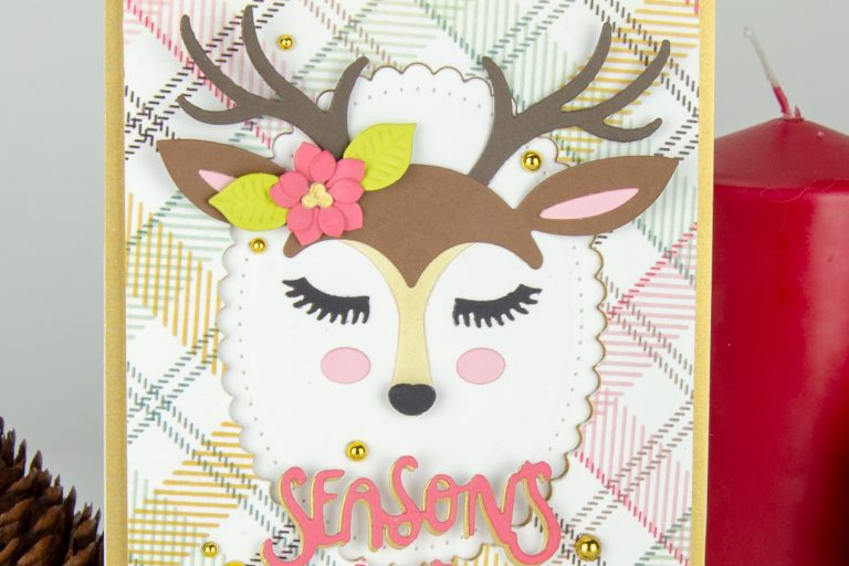 "Using Just Stamps & Dies! November ""Deer"" Santa 2018 Card Kit of the Month Edition"