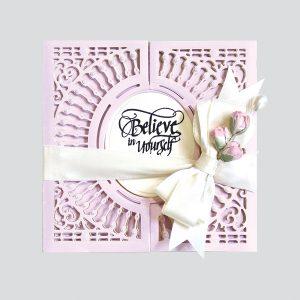 Spellbinders December Amazing Paper Grace Die of the Month is Here – Softly Spoke'n Flip and Gatefold Card. Believe in Yourself Handmade Card. Step 5