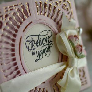 Spellbinders December Amazing Paper Grace Die of the Month is Here – Softly Spoke'n Flip and Gatefold Card. Believe in Yourself Handmade Card.