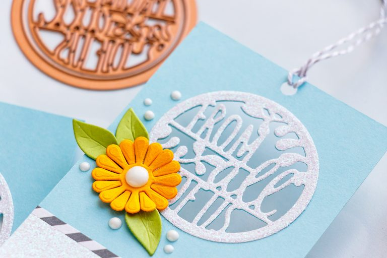 Spellbinders December 2018 Small Die of the Month is Here – Warm Wishes! From All of us Handmade Tags.