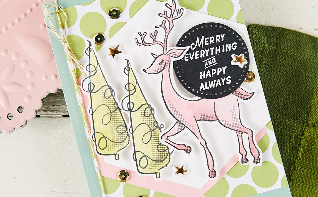 Beautiful Pastel Colors for Christmas Cards