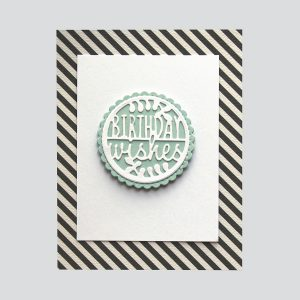Spellbinders December 2018 Small Die of the Month is Here – Warm Wishes! Birthday Wishes Card. Step 2