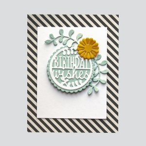 Spellbinders December 2018 Small Die of the Month is Here – Warm Wishes! Birthday Wishes Card. Step 4