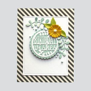 Spellbinders December 2018 Small Die of the Month is Here – Warm Wishes! Birthday Wishes Card. Step 6