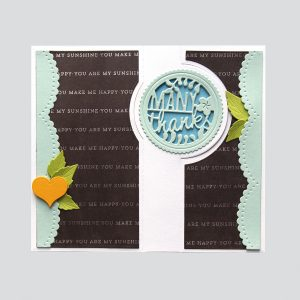 Spellbinders December Large Die of the Month is Here – Many Thanks Gatefold! Many Thanks Handmade Card. Step 4