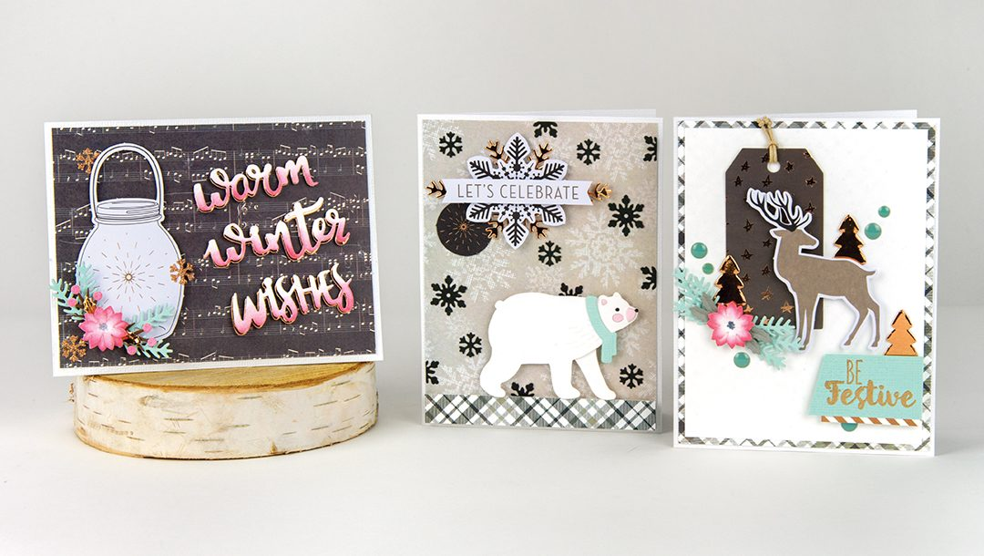 Spellbinders December 2018 Card Kit of the Month – Winter Wishes!