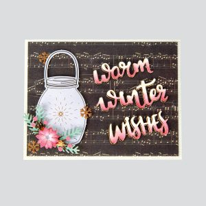 Spellbinders December 2018 Card Kit of the Month – Winter Wishes! Warm Winter Wishes Card. Step 6