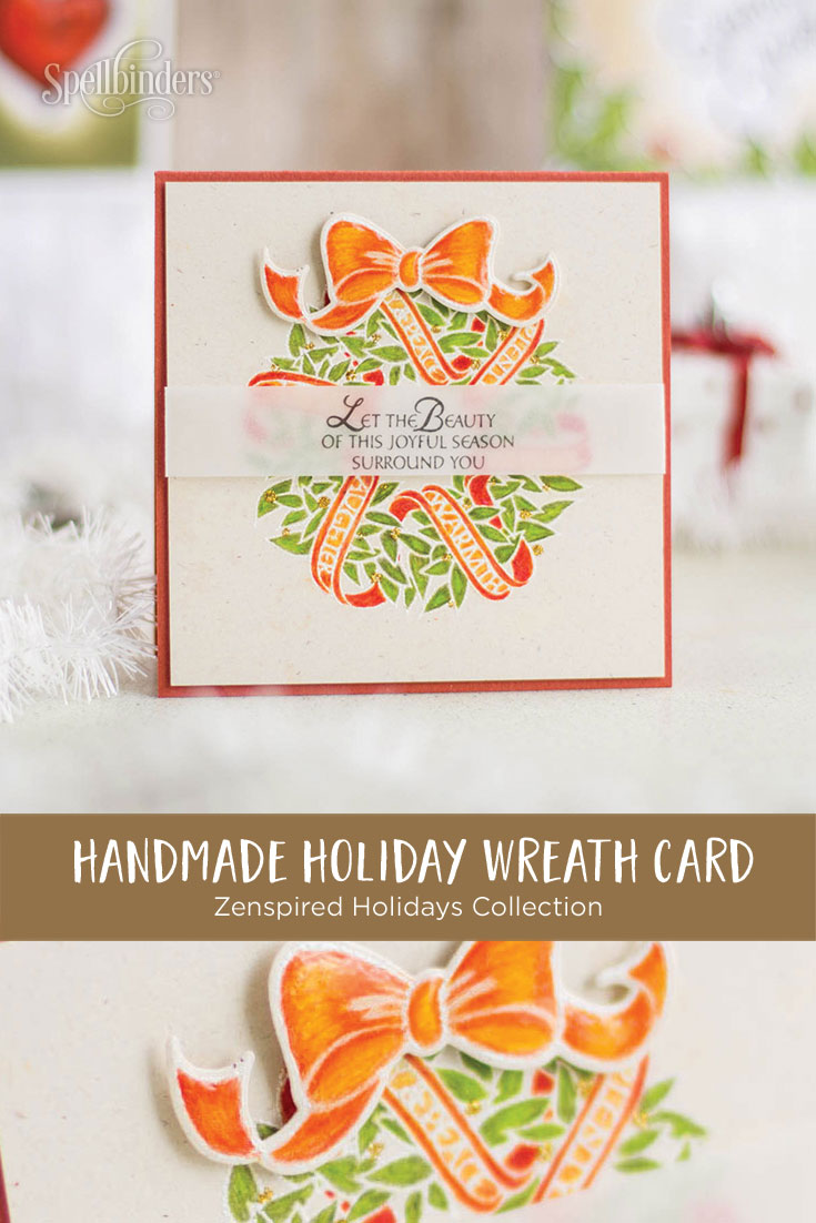 Zenspired Holidays Inspiration | Joyful Season Handmade Christmas Card by Elena Salo for Spellbinders #spellbinders #christmascard #neverstopmaking