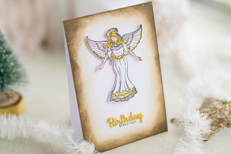 Zenspired Holidays Inspiration | Birthday Blessings Card by Elena Salo for Spellbinders #spellbinders #neverstopmaking #birthdaycard