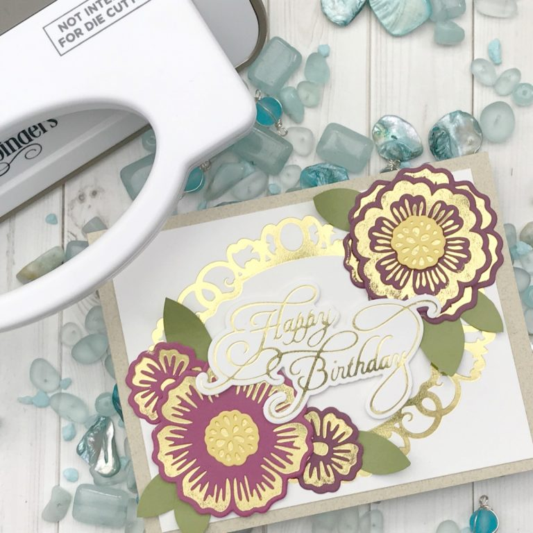 Glorious Glimmer Collection by Becca Feeken - Inspiration   Elegant Cards with Desiree for Spellbinders