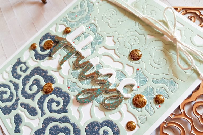Destinations China collection by Lene Lok - Inspiration | Beijing Layout & Cards by Zsoka Marko for Spellbinders