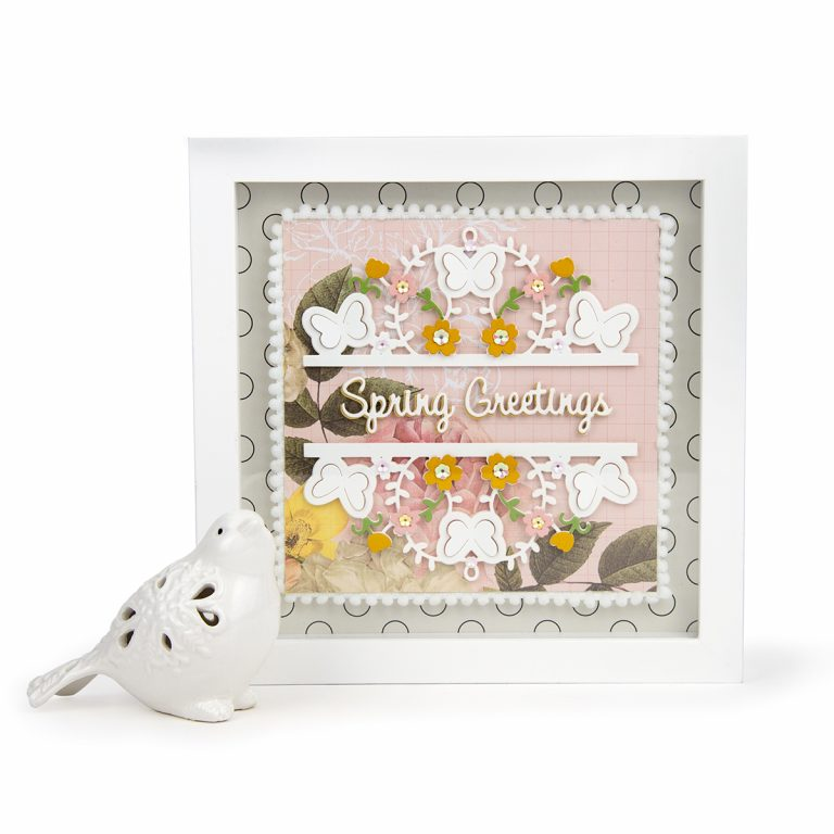 February 2019 Small Die of the Month is Here – Spring Flutter !