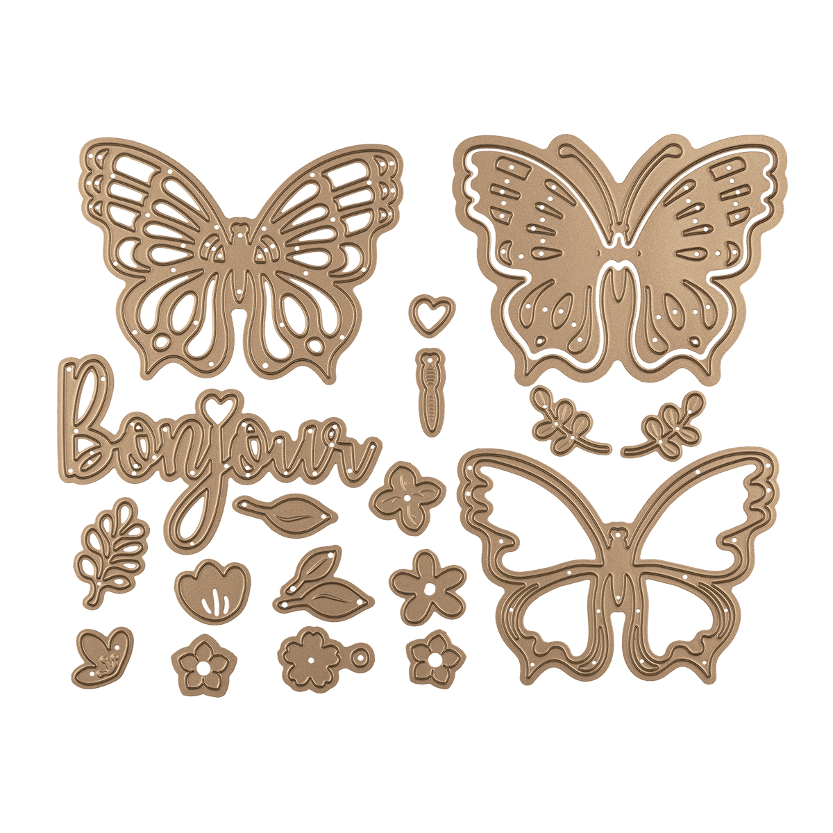 Large Butterfly Die Cuts X 10