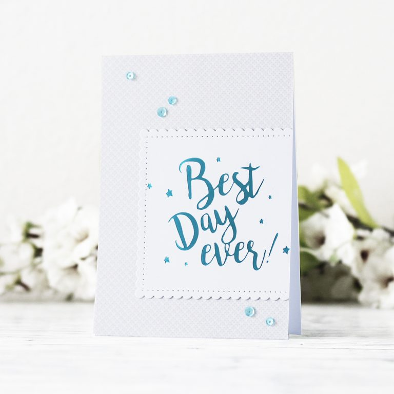 Spellbinders Glimmer Plates Inspiration | Clean & Simple Foiled Cards with Kaja