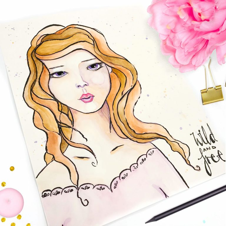 Create a Simple Face with Jane Davenport's Making Faces Collection. Project by Kate Palmer for Spellbinders