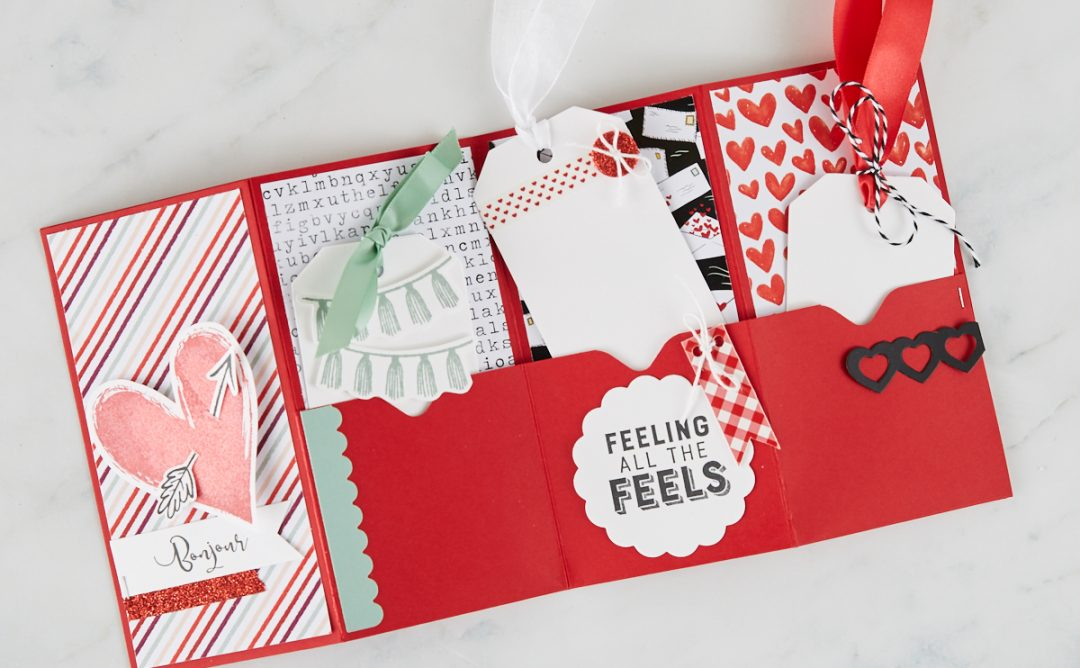 Follow Your Heart | Valentine's Pocket Card Tutorial