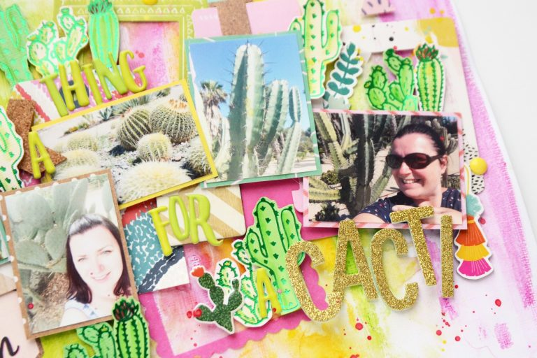 Spellbinders Glimmer Plates Inspiration | Cacti Layout with Anna Komenda