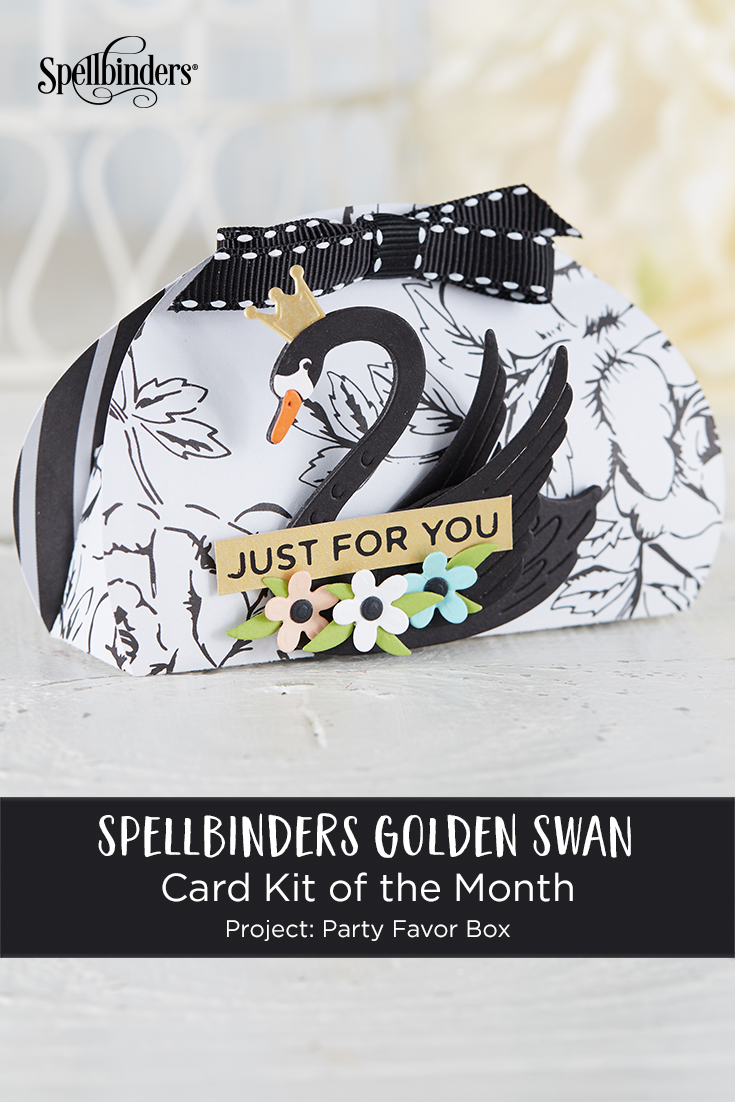 Using Just Stamps & Dies! February Golden Swan 2019 Card Kit of the Month Edition