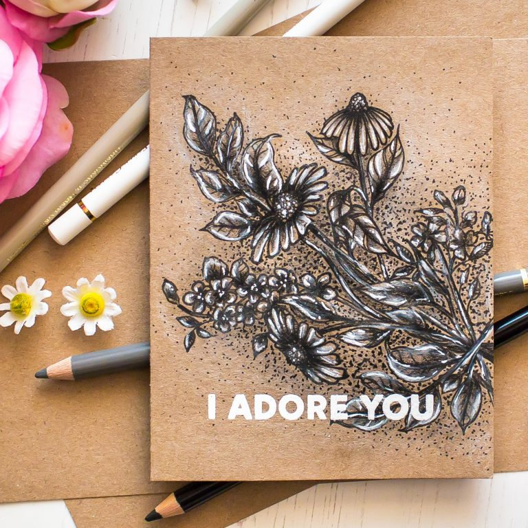 Just Add Color Inspiration | Monochromatic Floral Card with Mona Toth