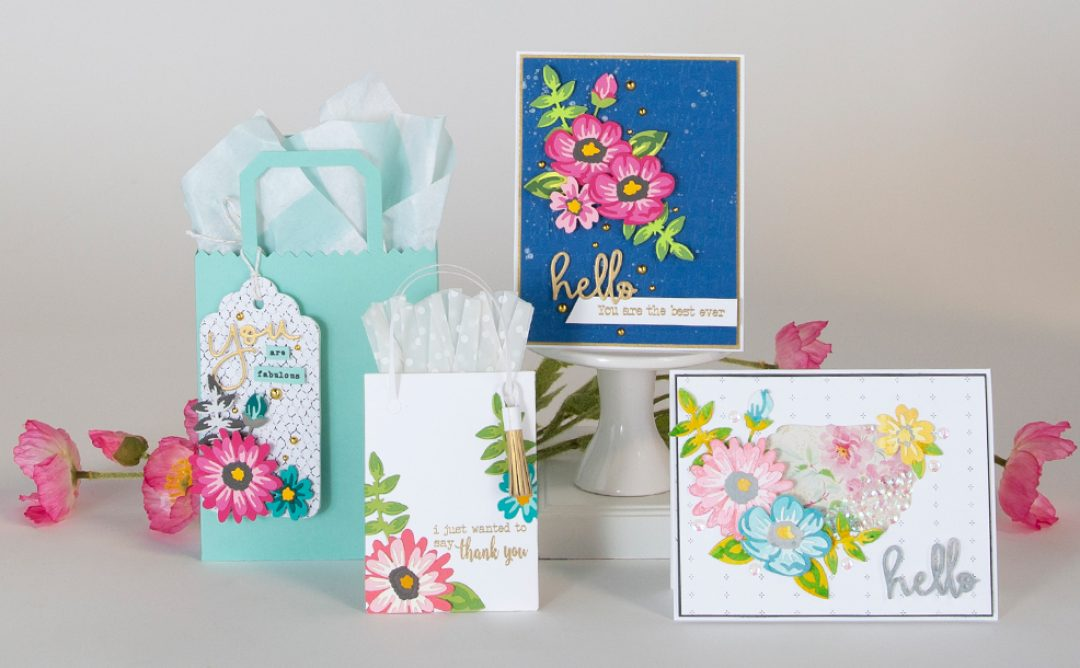 April 2019 Small Die of the Month is Here – Layered Colorful Blooms