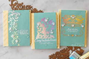 Video: Happy Collection by Sharyn Sowell - Inspiration   Elegant Glimmer Cards with Nichol Spohr
