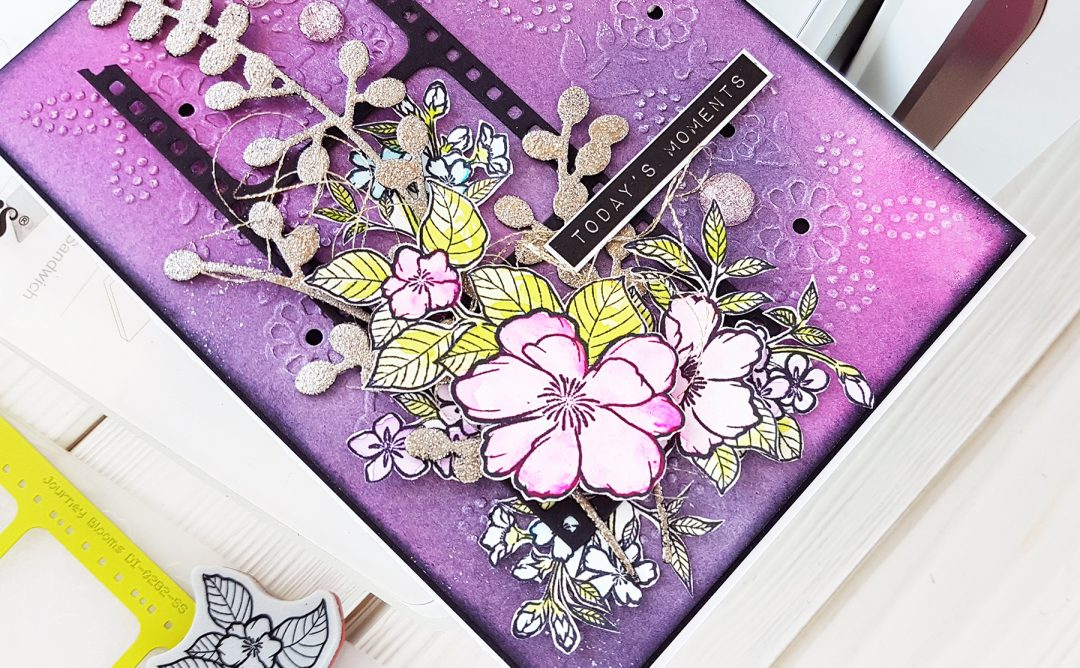 Cut & Emboss Folders Inspiration | Mixed Media Card Tutorial by Nadya Drozdova