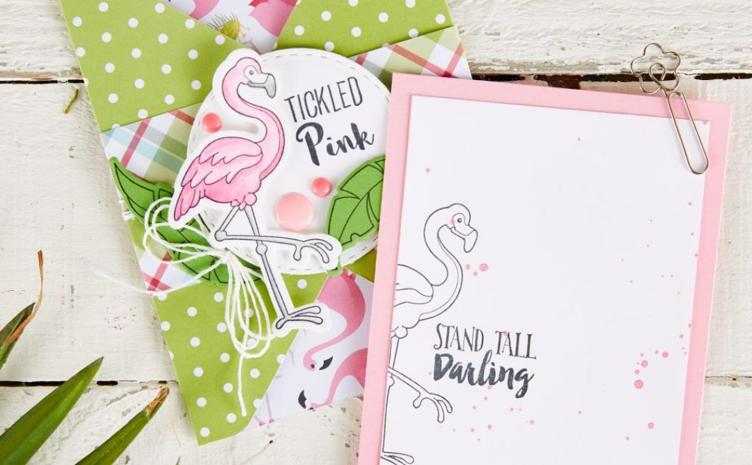 Make a Tickled Pink Flamingo Envelope with the FSJ Scoring Board