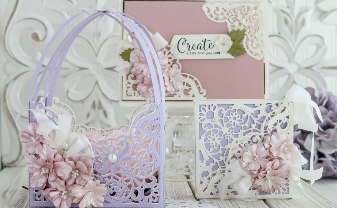 """Spellbinders June 2019 Amazing Paper Grace Die of the Month is Here – Enchanting Battenburg Corners. Designed by our very own Becca Feeken from Amazing Paper Grace this """"Enchanting Battenburg Corners"""" die of the month will have you creating gorgeous layered projects in no time! This die set features 6 dies that are perfect for elegant layered projects."""