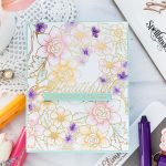 Video: Hot Foil Resist and Watercolor with Flower Pattern Glimmer Hot Foil Plate & ColorSticks by Jane Davenport